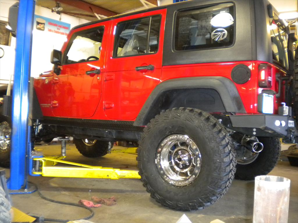 Side of Jeep Wrangler