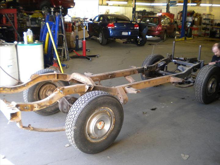 Car axel and wheels
