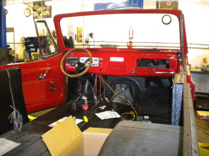 Interior of red car