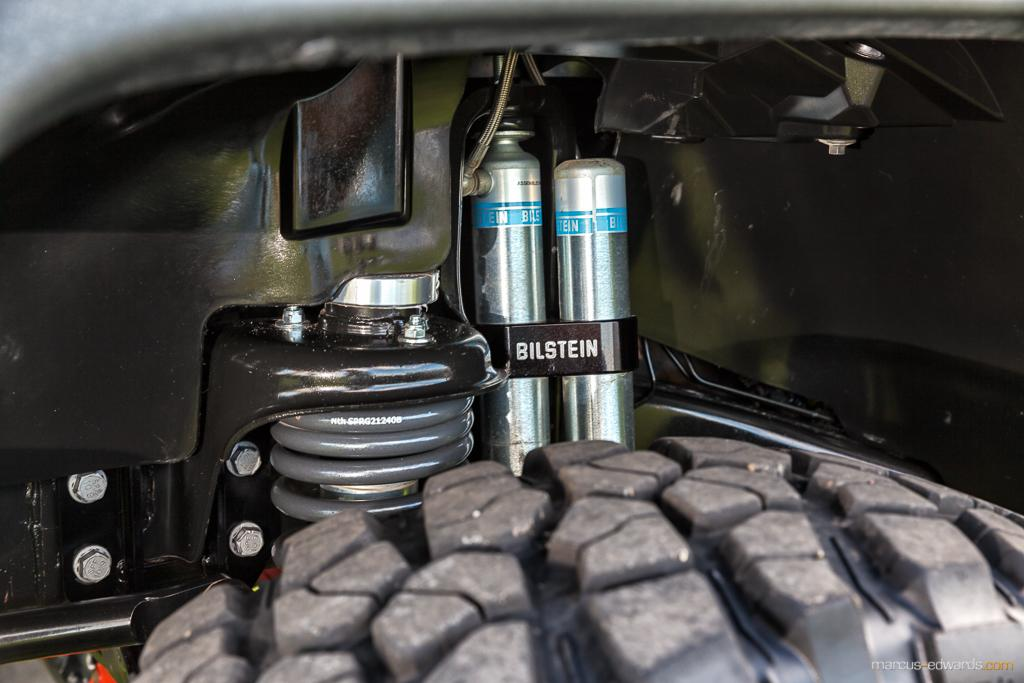 Tire and shocks of Jeep