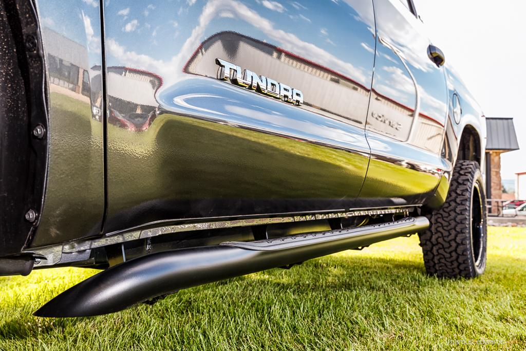 Toyota Tundra silver pick up truck