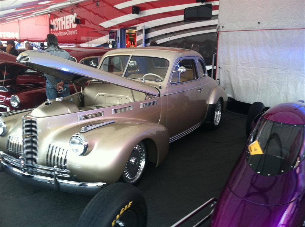 Old tan car