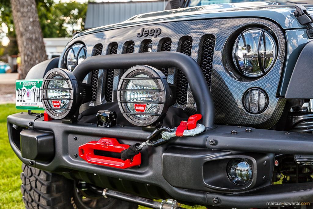 Teal Jeep Lights