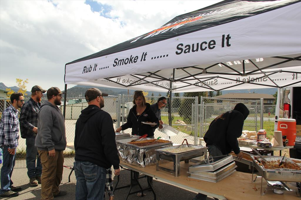 Food options available for spectators