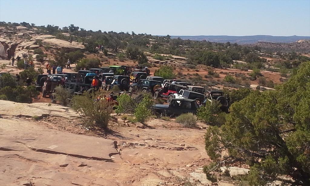 Multiple cars off-roading