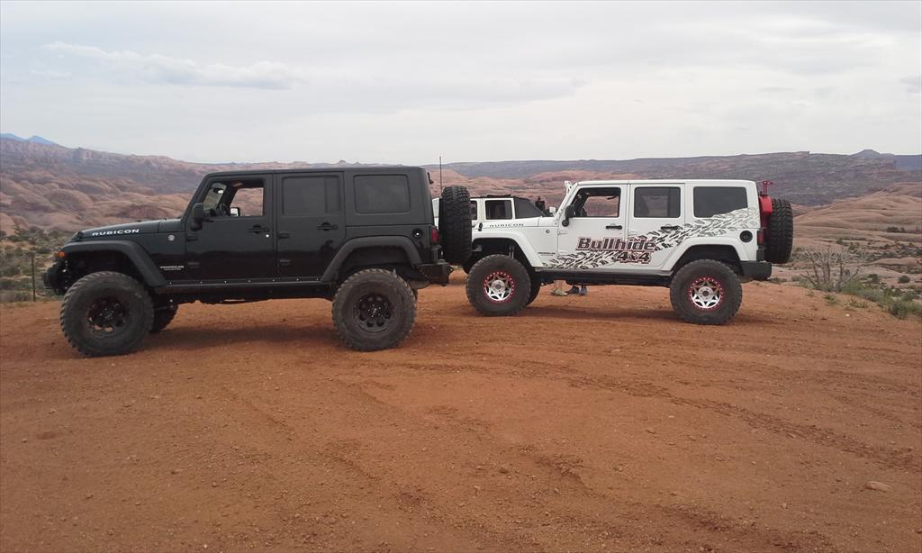 Black and white Jeep