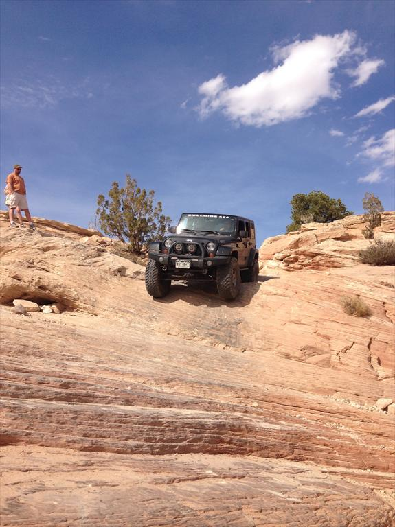 Black Jeep off-roading