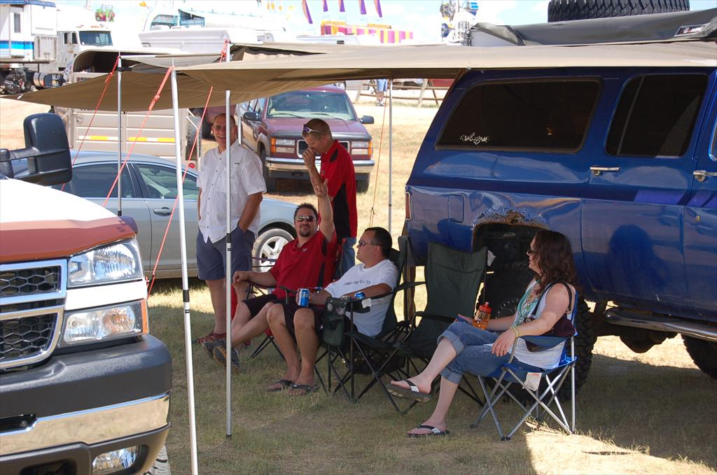 People at the Truck and Jeep show