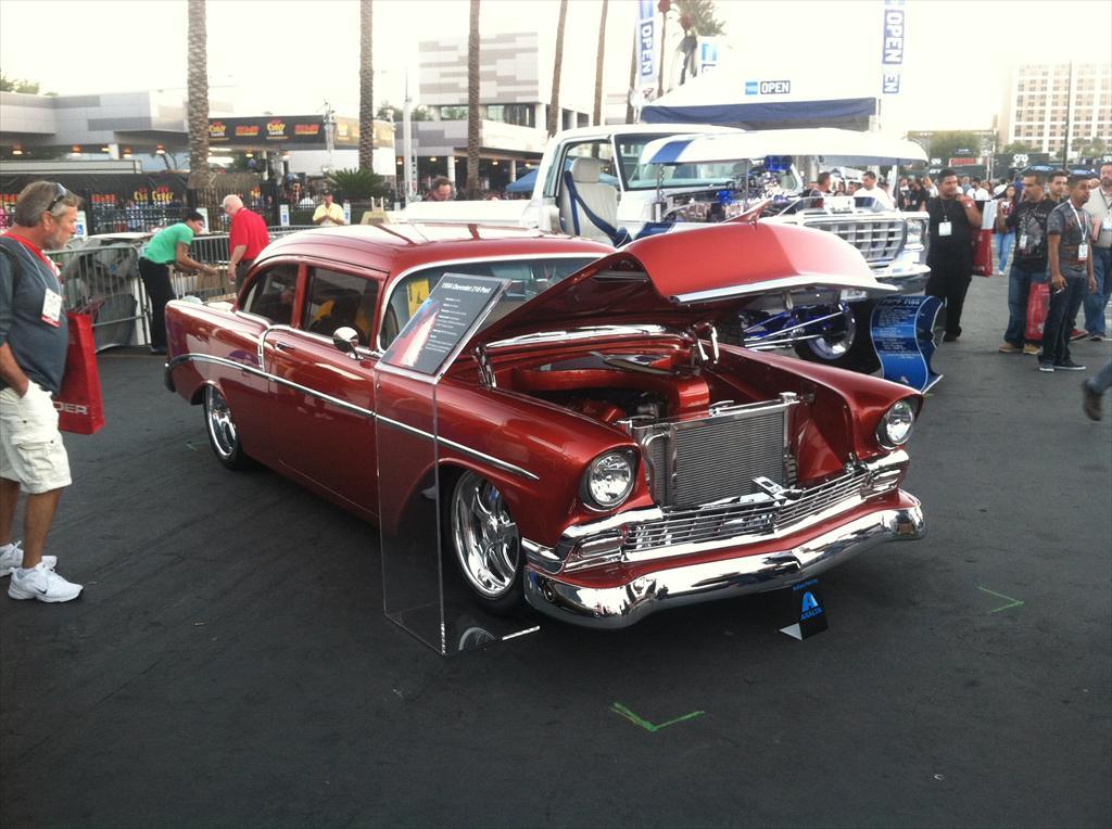 Red car engine