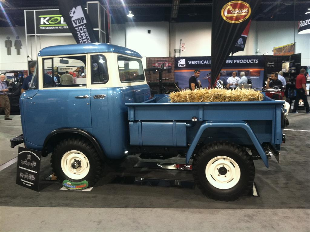 Old blue pick up truck