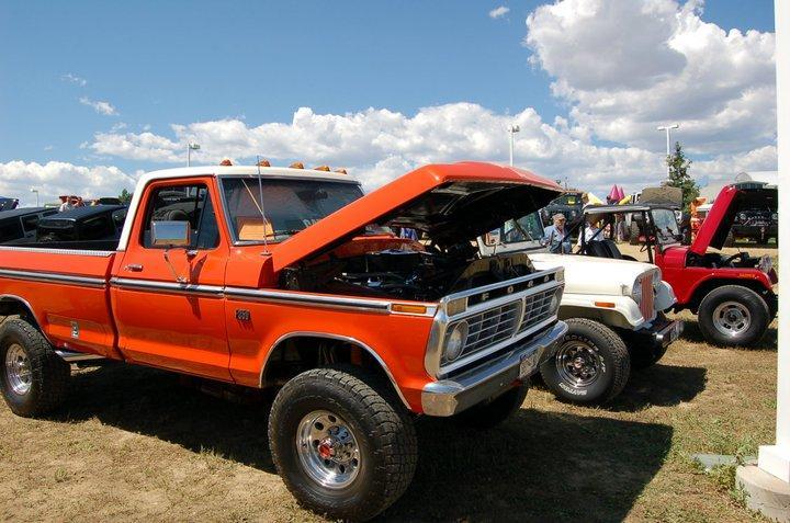 Orange Ford Pick Up