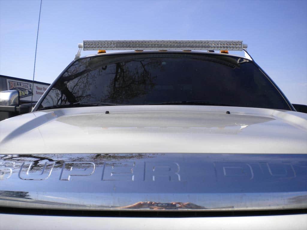 Light bar on a car
