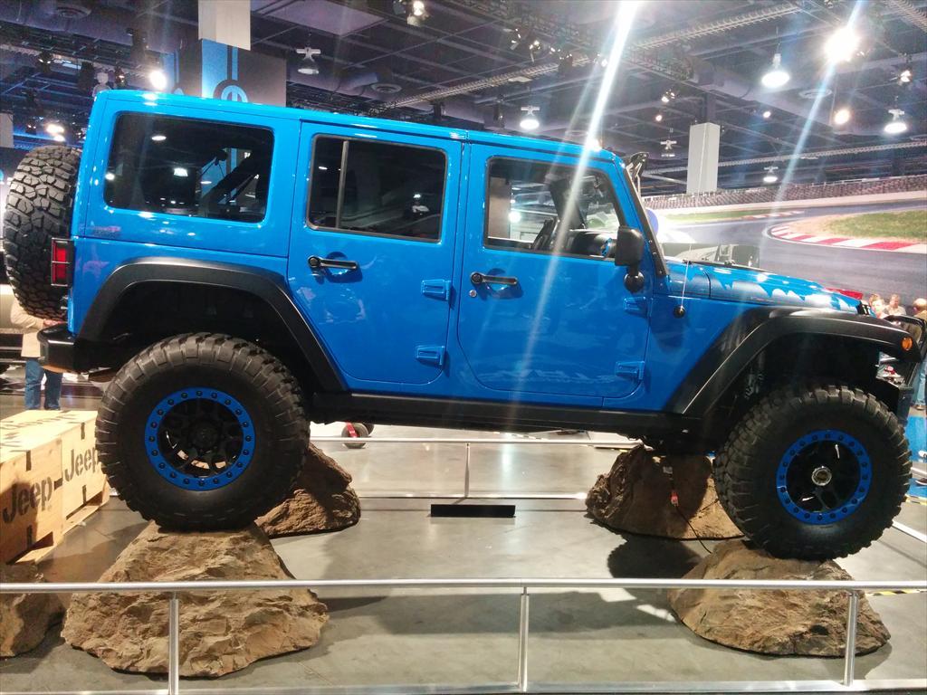 Blue Jeep Wrangler