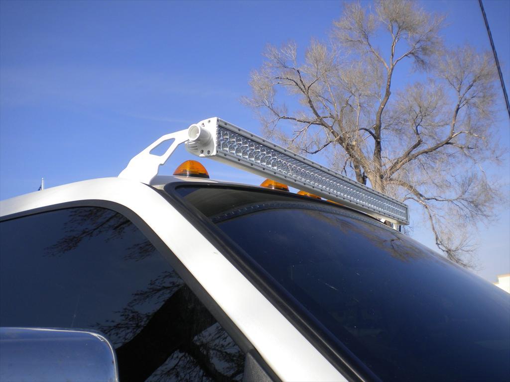 Light bar on top of a car