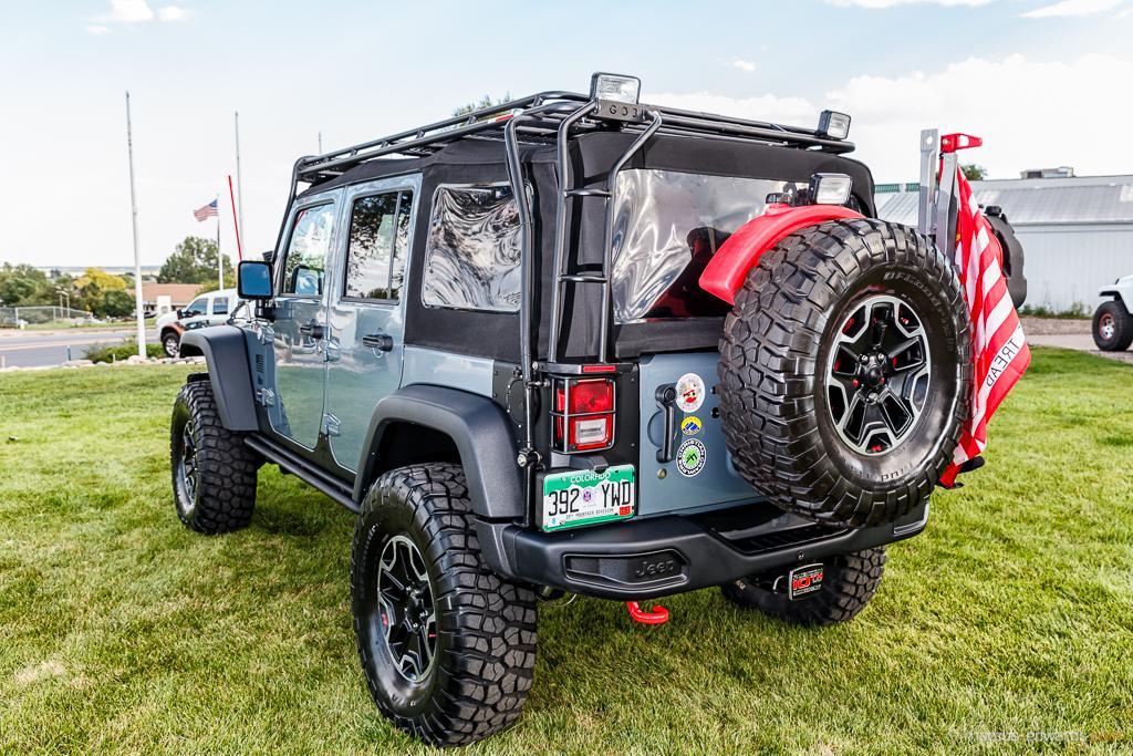 Teal Jeep Back