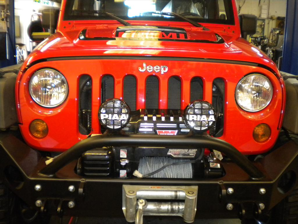 Jeep grill and headlights