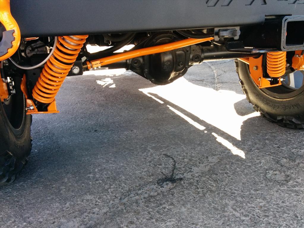 Orange detail on car
