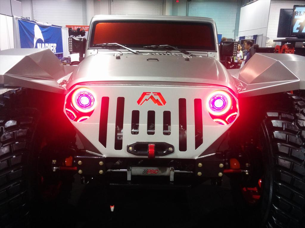 Front of car and headlights