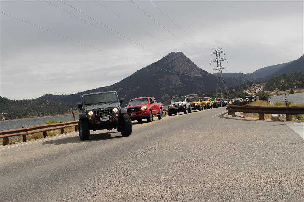 Line of Jeeps