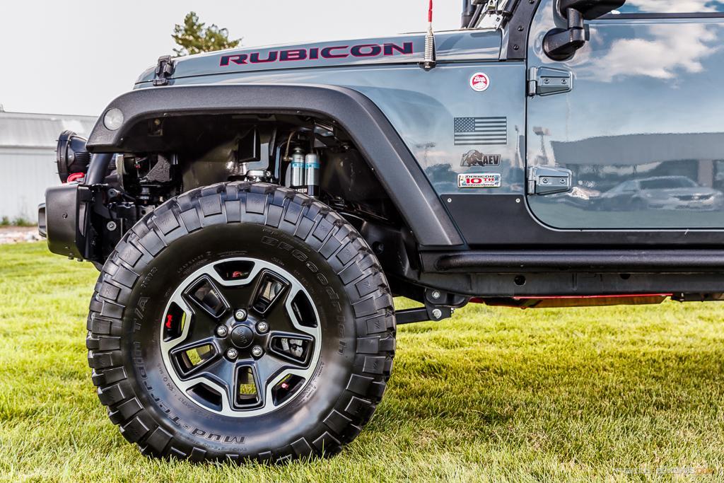 Teal Jeep Wheel