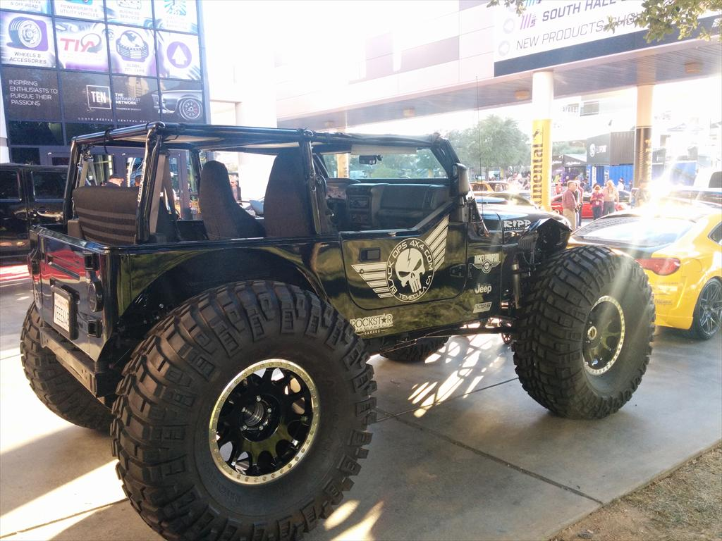 Jeep with large tires