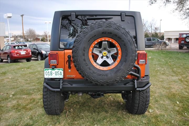Back of Jeep Wrangler