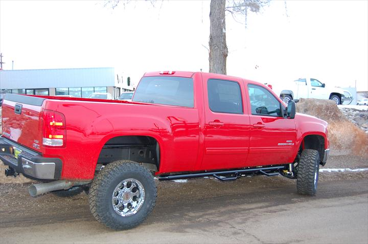 GMC Red Pick Up