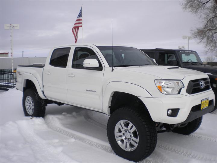 White pick up truck