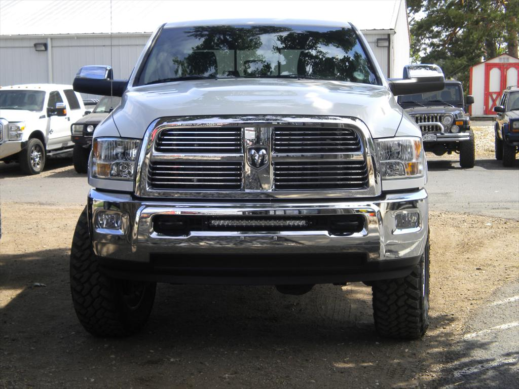 Front of a Ram Pick Up Truck