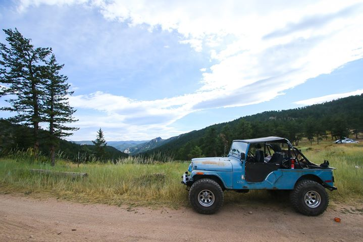 Blue Jeep at the Jeep Jaunt 2019