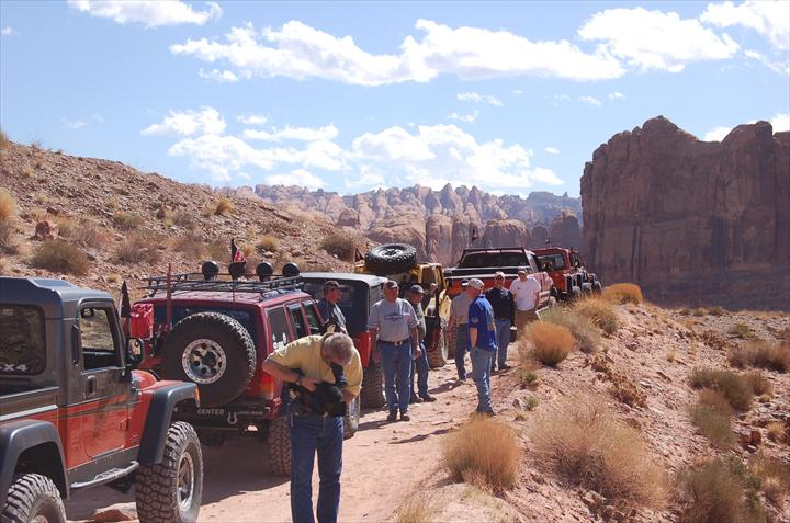 Jeeps off-roading